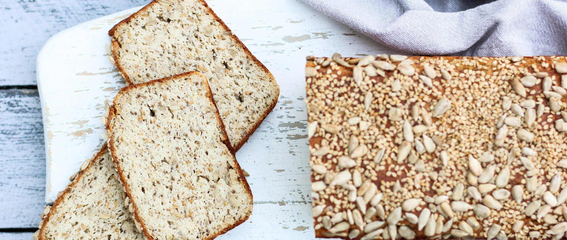 Quarkbrot ohne Mehl glutenfrei und proteinreich