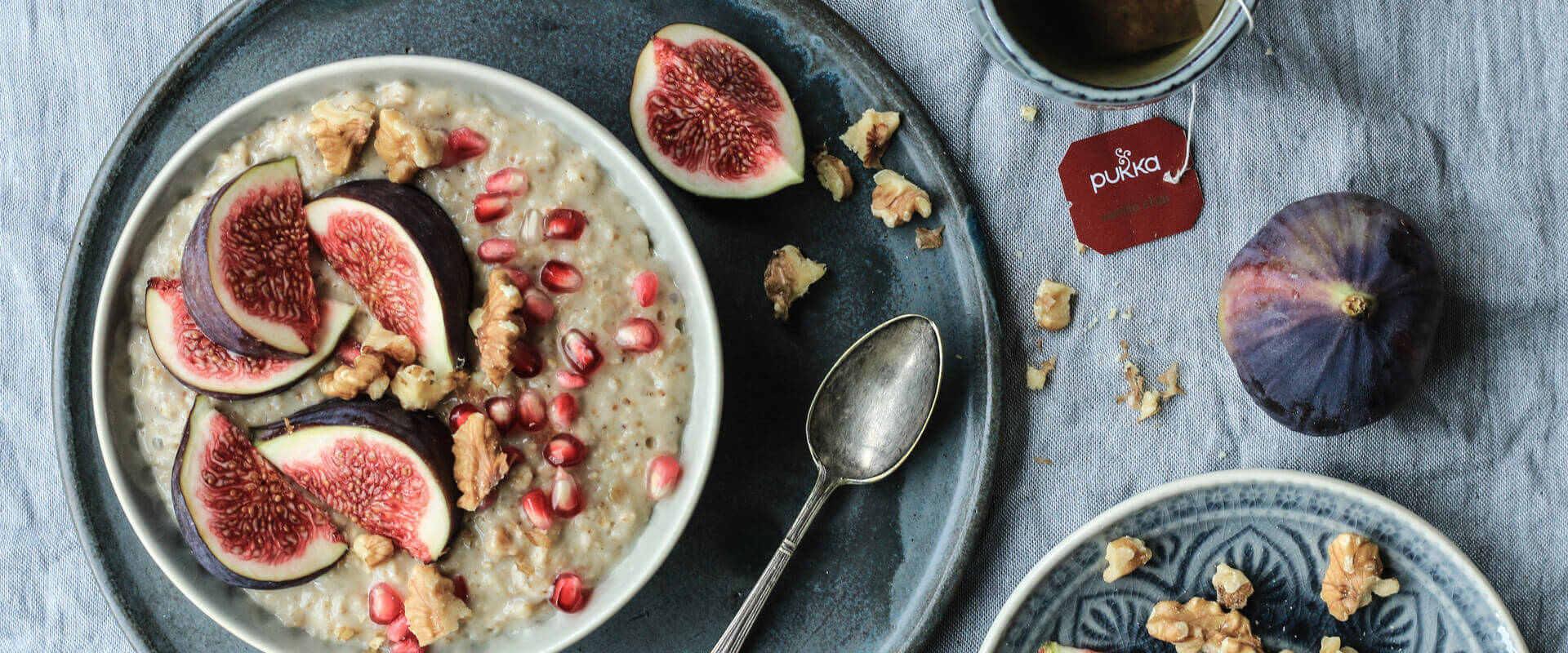 Clean Eating Frühstück: Chai Feigen Porridge