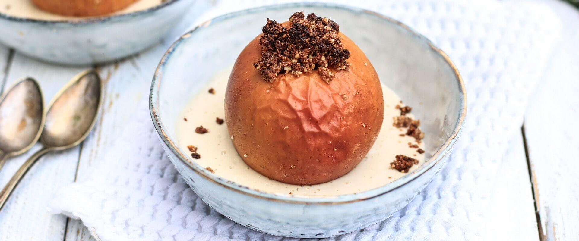 Bratapfel vegan Cashew-Vanille-Soße